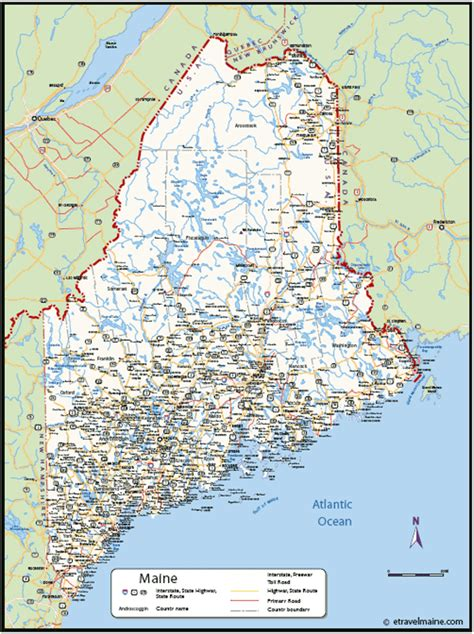 city map of maine map of maine travelquaz
