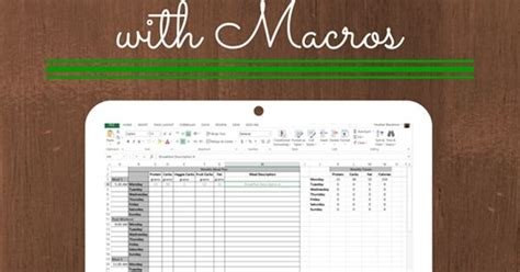 Meal Planning With Macros Free Template Meals Macro Meal Planner Template