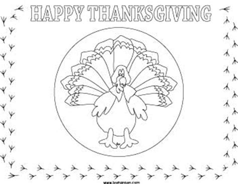 thanksgiving coloring page placemat 6 best images of free printable thanksgiving coloring