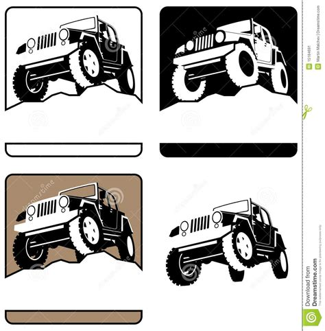 logo jeep vector off road logo stock vector illustration of vector land