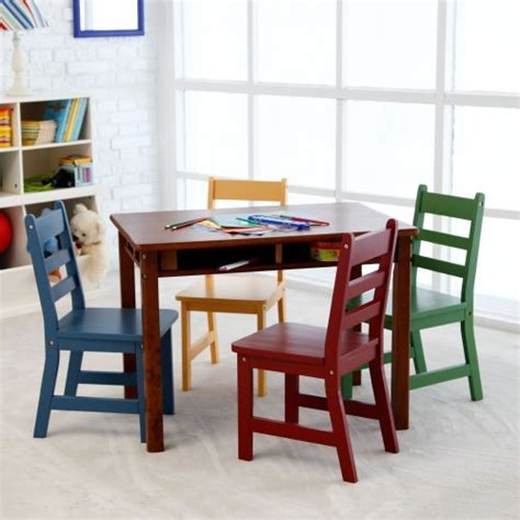 Cheap 5 Piece Dining Room Sets by Lipper Childrens Walnut Rectangle Table And 4 Chairs