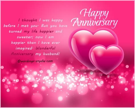 Wedding Anniversary Messages for Husband
