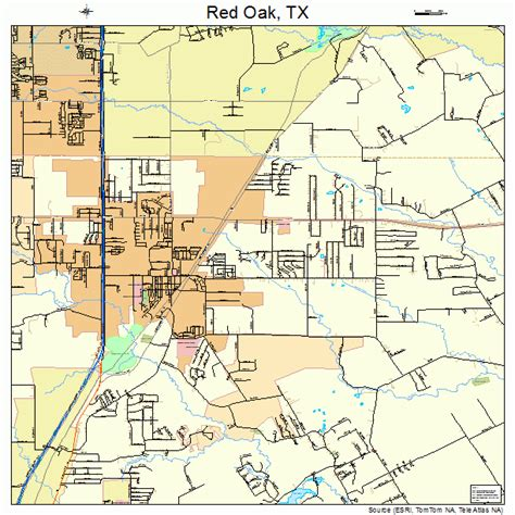oak texas map oak texas map 4861196
