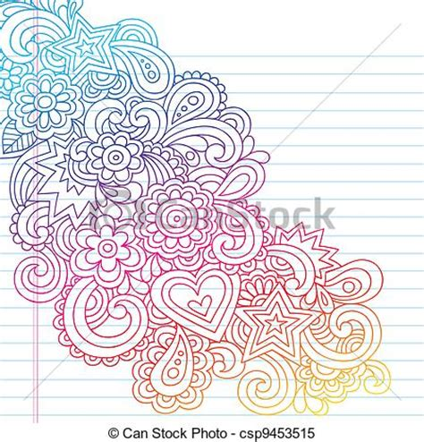 doodle flower free vector clipart vector of flowers outline vector doodle groovy