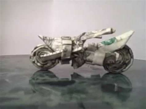 Origami Motorcycle - dollar origami dirt bike