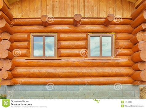 Wall Log Cabin by Detail Of Beams In Cabin Wall Painted Wood With Fungicide