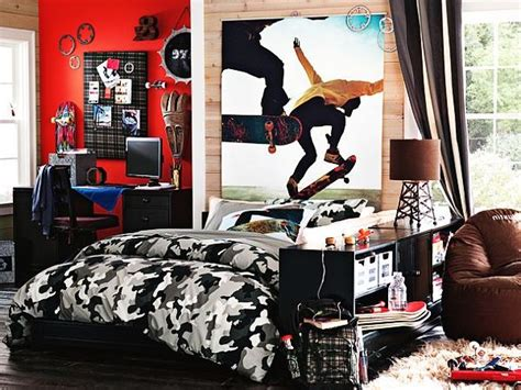 skateboard themed bedroom teenage boys bedroom ideas