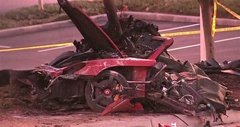 paul walker porsche crash paul walker s sues porsche alleging car failures