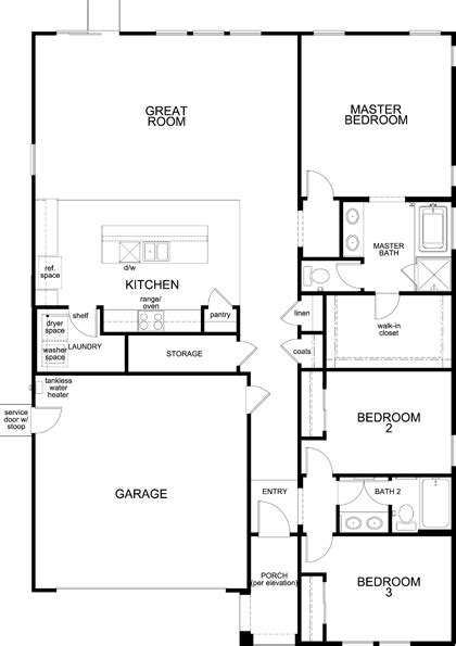 10 South Riverside Plaza Floor Plan - residence 1751 modeled new home floor plan in citrus