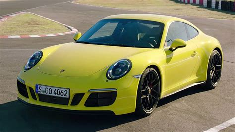 yellow porsche 2017 porsche 911 carrera gts racing yellow awesome drive