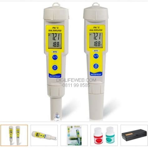 Alat Pengukur Ph Darah ph meter deluxe with thermometer
