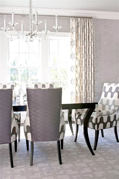 grey dining room chair stylish upholstered dining chairs for easy design and