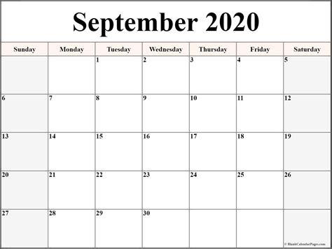 september  calendar  printable monthly calendars