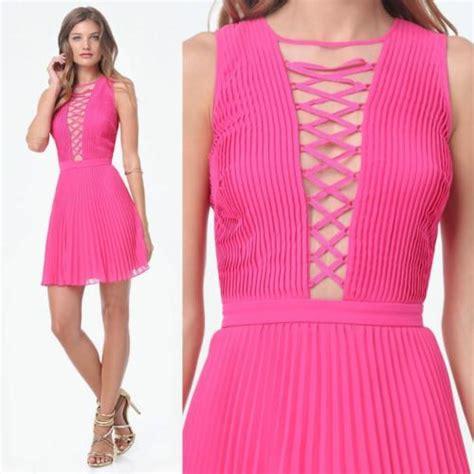 Pink Pleated Irreguler Dress Size Sml 1 nwt sisley black dress ruffle xs xsmall tunic satin sleeveless sundress what s it worth