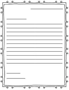 Printable Writing Templates For Elementary Students Printable Pages Elementary Letter Template