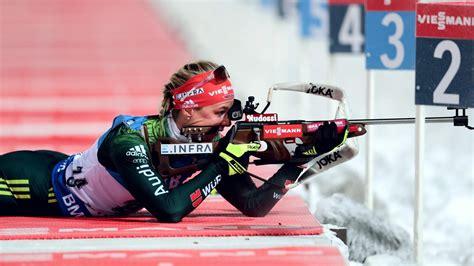 biathlon weltcup  oestersund denise herrmann gewinnt auch verfolgung  oestersund oestersund
