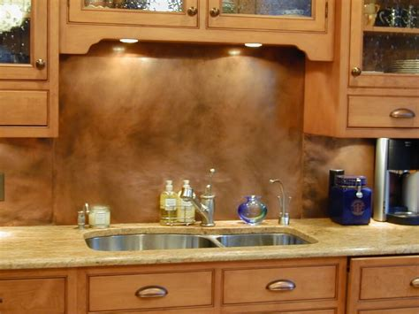 kitchen panels backsplash copper backsplashes custom