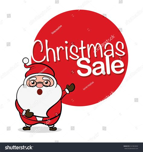 christmas sale santa claus christmas sale stock vector
