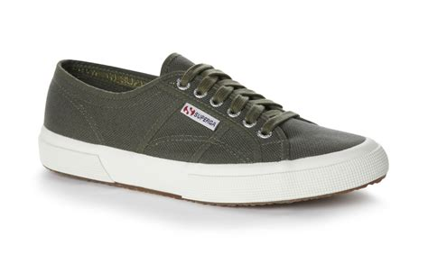 Superga 2750 Cotu Classic superga unisex 2750 cotu classic green canvas trainers tennis shoes rubber sole ebay
