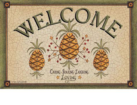 Pineapple Welcome Mat by Indoor Outdoor Pineapple Welcome Insert Doormat 18 X 30