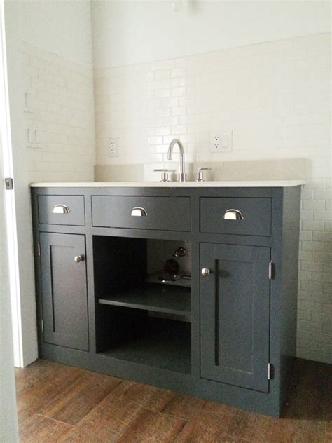 Building Bathroom Vanity White Simple Gray Bath Vanity Diy Projects