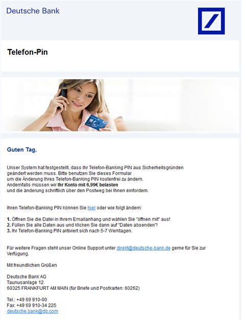 deutsche bank karlsruhe telefon phishing mail alerts deutsche bank telefon banking