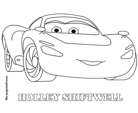 cars 2 coloring pages holley shiftwell holly cars colouring pages