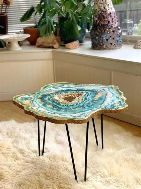mesmerizing resin tables design   giant geode
