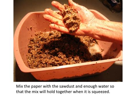 How To Make Paper From Sawdust - how to make fuel briquettes without a press