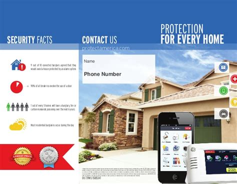 protect america home security systems information pack