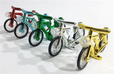 Lego Bike 1 brick loot minifigure bicycles set of 5 compatible chrome bikes for