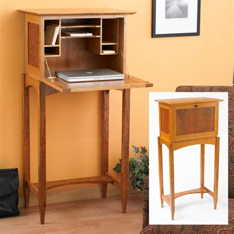 Drop Front Desk Plans by Drop Front Desk Woodworking Plan From Wood Magazine