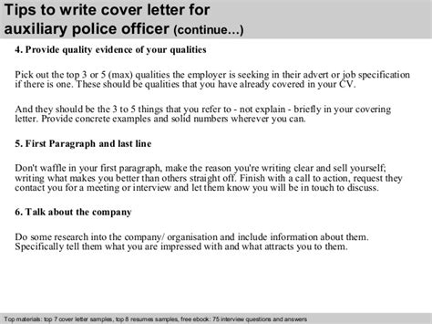 Auxillary Cover Letter by Auxiliary Officer Cover Letter