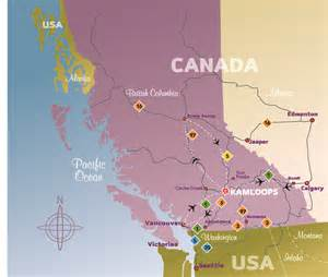 map of us and canada airports map of canada kamloops derietlandenexposities
