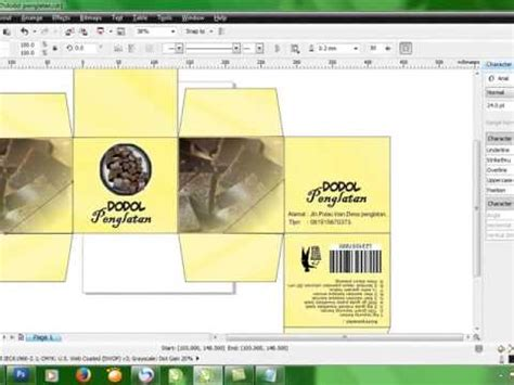 desain label kerupuk cara membuat design packaging dengan corel draw youtube