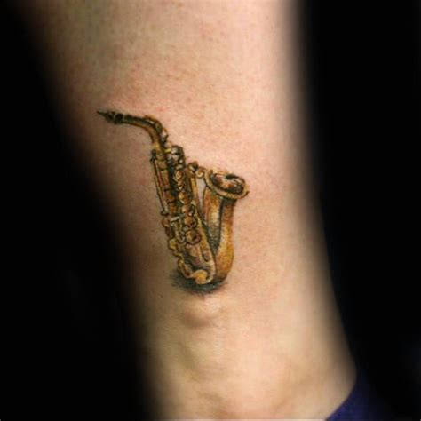 50 saxophone tattoo designs for men jazz inspired ink ideas