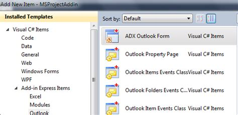 custom outlook 2010 view and form programmatically c vb net