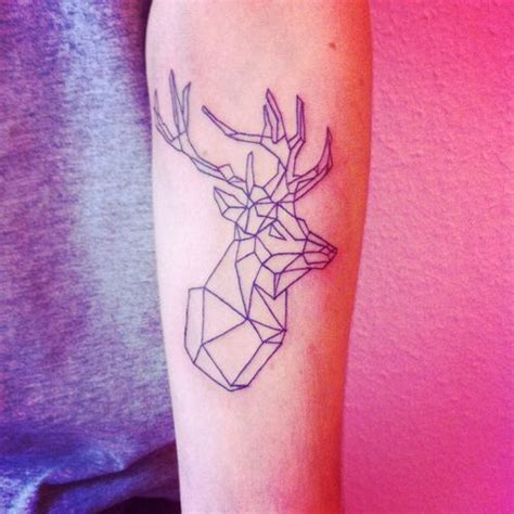 tattoo geometric minimalist geometric deer minimal tattoo best tattoo ideas designs