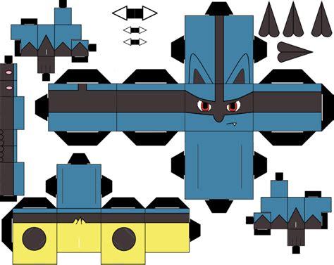 Lucario Papercraft - lucario cubeecraft cubeecraft pok 233 mon
