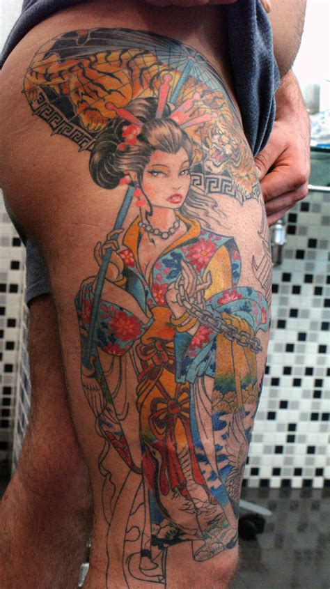 tattoo designs uk men geisha tattoo for men