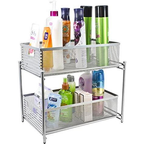Bathroom Countertop Storage Drawers Sorbus 2 Tier Organizer Baskets With Mesh Sliding Drawers Ideal Cabinet Countertop Pantry