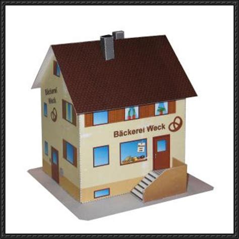Paper Craft Houses - a bakery house free building paper model