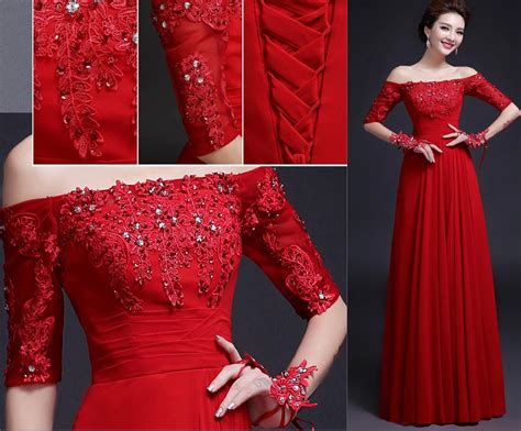 aliexpress karachi free shipping red long evening gown dresses off the