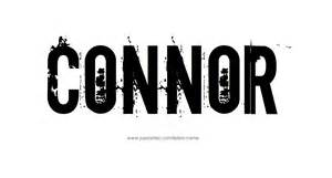 connor name tattoo designs