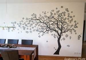 tree stencil for wall mural cherry blossom tree 83inch h for girls room decors
