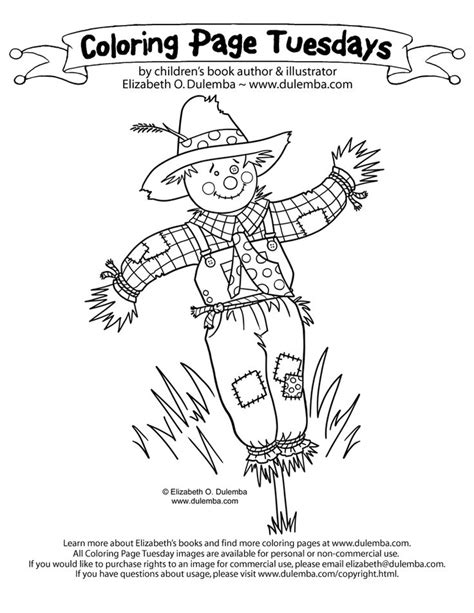 scarecrow coloring page 64 best icolor quot scarecrows quot images on coloring