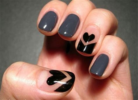 easy nail art heart simple nail art designs ideas for valentine s day 2014