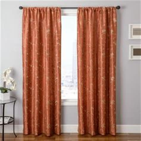 copper colored curtains cleopatria in rust pumpkin orange color embroidery