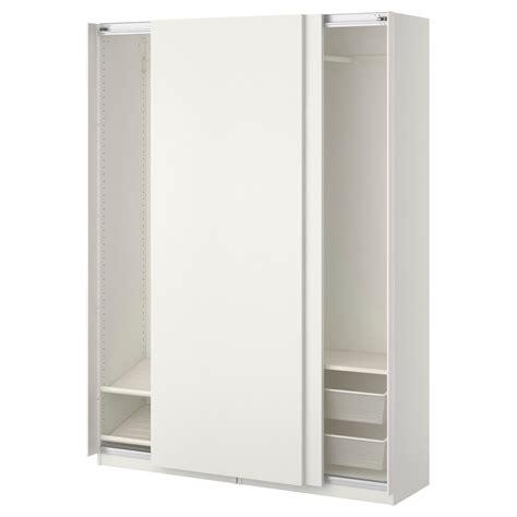 schrank 60 breit 30 tief pax wardrobe white hasvik white 150x44x201 cm ikea