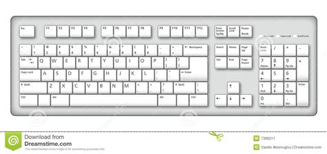 Computer Keyboard Illustration Stock Vector Illustration